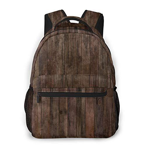 Lässiger Tagesrucksack Dunkles Hartholz Teil des Parketts Männer und Frauen Lässiger Stil Leinwand Rucksack Schultasche,