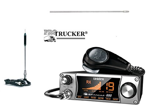 Pro Trucker CB Radio Kit Includes Bearcat 680, 24' Center Loaded Copper Coil Stainless Steel CB Antenna & Pre-Wired...