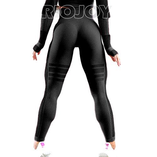 RIOJOY Seamless Gym Leggings for Women High Waist Yoga Pants Sports Workout Tights