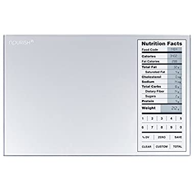 Digital Kitchen Food Portion Scale by GreaterGoods, with Perfect Portions Nutritional Facts Backlit Display