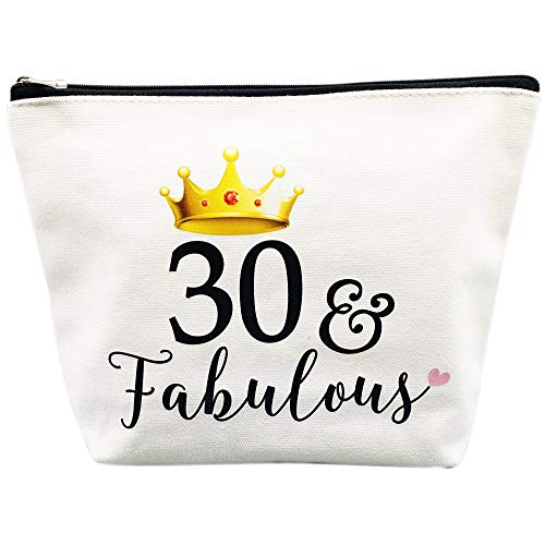 30th Birthday Gifts for Women 30th Birthday Party Supplies and Decorations 30 and Fabulous Dirty Thirty Makeup Bag Funny 30th Anniversary Gifts Idea for Her