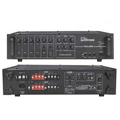 HITUNE BASS Two Zone PA Amplifier HTZA-2000, 200 WATTS, AC & 24V DC Operation