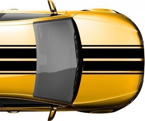Viperstreifen 28 x 400 cm Rallystreifen Rennstreifen Autoaufkleber Viper 2N005, Farbe:Schwarz Matt