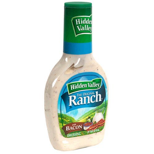 Hidden Valley Ranch Dressing, Original with Bacon, 16 Oz (Pack of 3)