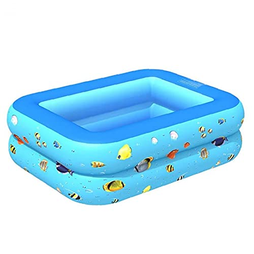 Opblaasbaar zwembad, grote 2-laags baby Kid Water Speel Padding Bathtub 115x90x35cm, Baby Badzwembad,