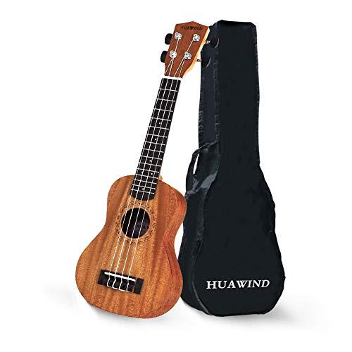Ukulele Soprano Beginner Mahogany Wood Ukelele 21 inch Hawaiian Uke Kid Guitar for Kids Beginners Students Adults Starter Kit with Gig Bag