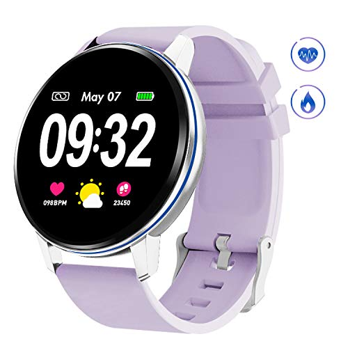 GOKOO Smart Watch for Women with Heart Rate Blood Pressure Sleep Monitor Waterproof Remote Camera Music Control Calorie Step Activity Tracker Reminder