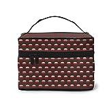 Bolsa de cosméticos con patrón de cazuela, bolsa de almacenamiento de herramientas de maquillaje impermeable con...