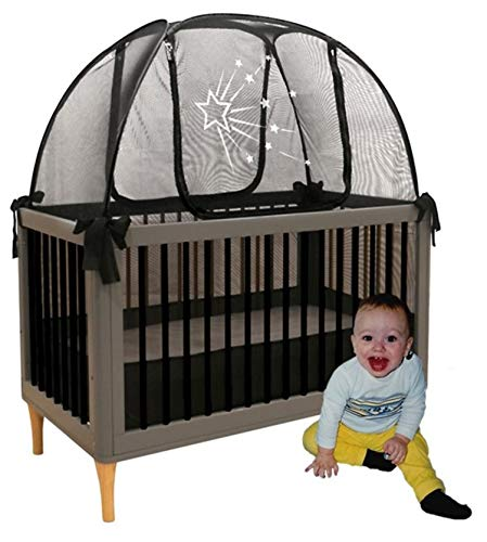 Aussie Cot Net Baby Crib Safety Tents - Premium Crib Tent to Keep Baby from Climbing Out - See-Through Crib Netting - Mosquito Net - Pop-up Crib Tent