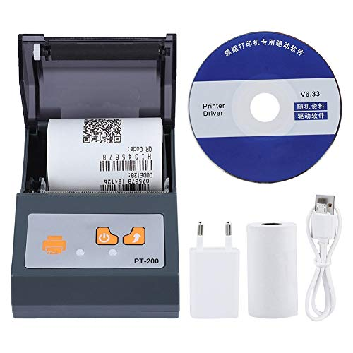 Mini impresora térmica, 58 mm, impresora térmica para etiquetas portátil, Mini Wireless Ticket Printer, EU 110-240 V