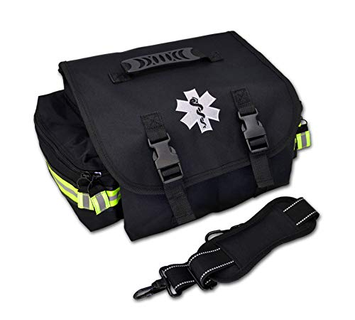 Lightning X Small EMT Medic First Responder Trauma EMS Jump Bag w/Dividers (Stealth Black)