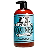 Pure Goatness Premium Goat Milk Lotion Natural Skincare Body Hand and Face rejuvenating and cleansing moisturizer (Summer, 16oz)