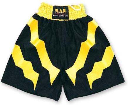M.A.R International Ltd. - Pantalones Cortos de Boxeo, Talla M, Color Negro y Amarillo