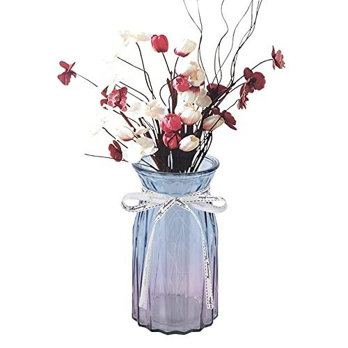 Vaso decorativo in vetro, per decorazione da tavolo, set di vasi