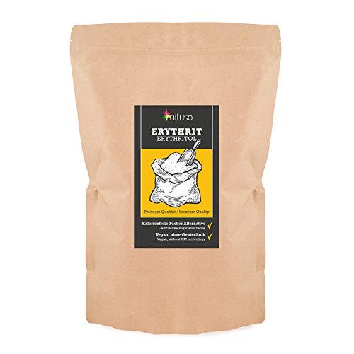 mituso eritritolo, edulcorante senza calorie, confezione da 1 (1x 1000 g) in un sacchetto