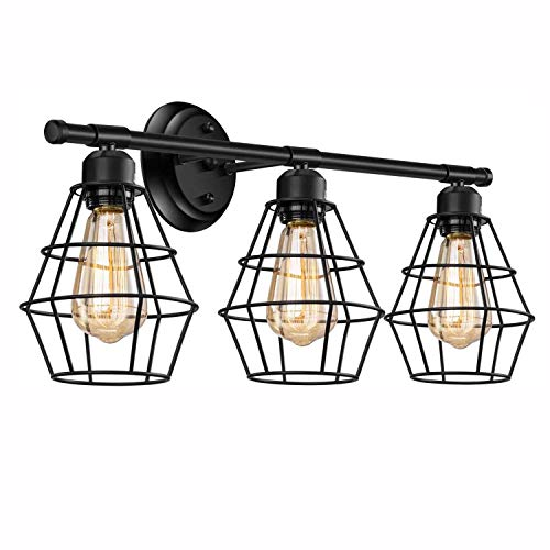 Plafondlamp Wandlamp, Metal Wall Wall Lights, E27 Retro 3 Lights, Industrieel Binnen Badkamer Slaapkamer Woonkamer Decorative Wall Lamp