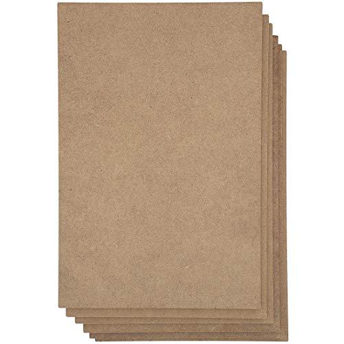 Tablero de MDF, hojas de aglomerado para manualidades (11 x 14 pulgadas, 6 unidades)