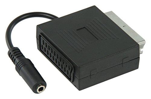 Thomson Funkkopfhörer WHP3001BK kabellos mit Ladestation (Reichweite 100 m) schwarz & Valueline VLVP31930B02 Adapter, Audio Stereo Scart männlich - Klinke weiblich Stereo 3,5 mm, 0,20 m, schwarz