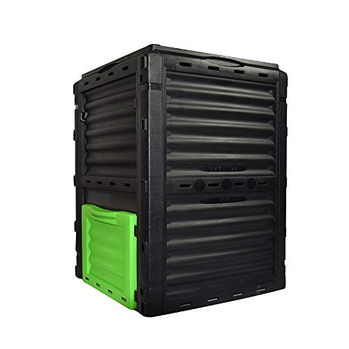 Garden Compost Bin from BPA Free Material , 80 Gallon(300 L), Easy Assembling, Large Capacity, Fast Creation of Fertile Soil