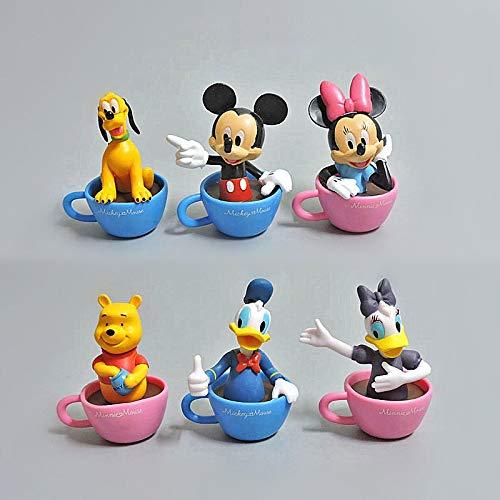 Geschenk Geburtstag Mickey Mouse Und Kaffeetasse Donald Duck Minnie Mouse 8cm Cartoon Charakter Pvc Kinder Spielzeug Geburtstagsgeschenk 13