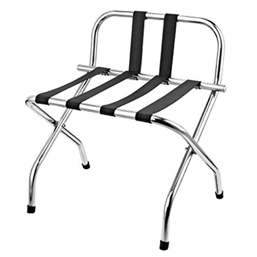 Buy Bargain MDBYMX Luggage Rack Stainless Steel Luggage Rack Hotel Luggage Rack Folding Room Clothin...