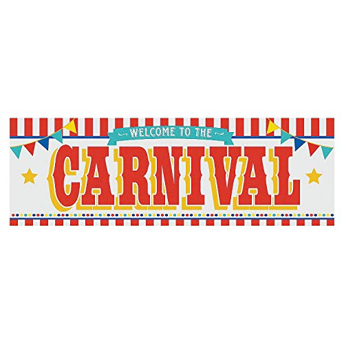 Carnival Welcome Party Banner - 6 Feet Long - Circus Party Supplies