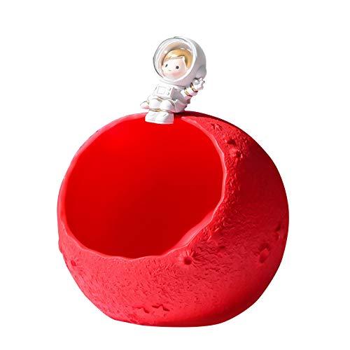 Astronaut Aufbewahrungsbox Statuen Candy Dish Storage Crafts Ornament Figuren Figur Desktop Counter Tisch Harz Dekoration Urlaub Geburtstag Für Geschenke,E