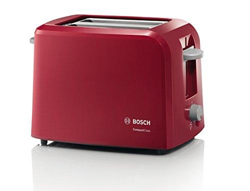 Bosch-TAT3A014-CompactClass-Kompakt-Toaster-Auftaufunktion-versenkbarer-Brtchenaufsatz-Abschaltautomatik-980-W-rot