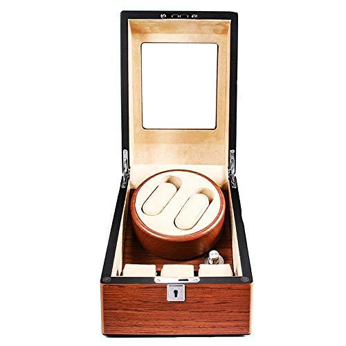 HYCy Caja de Reloj con agitador de Motor silencioso Caja de distribución de Barril de Reloj 5 Modos de rotación con 2 Espacios de bobinado y Soporte de Caja de Reloj