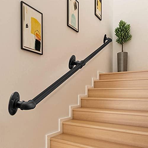 Pasamanos escalera, PaNt 2m Barandilla acero inox Lámina de acero galvanizado resistente...