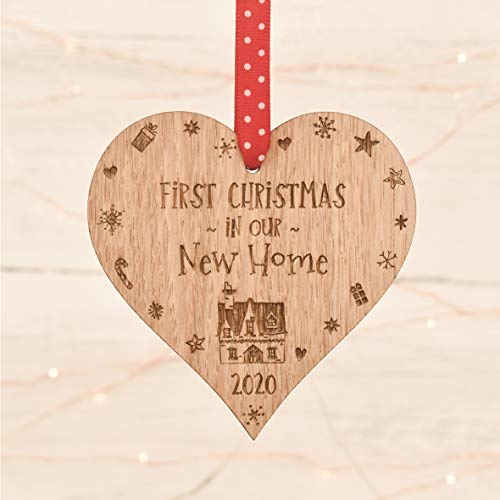 First Christmas in our new home decoration bauble | gift present housewarming | 1st house Tree Ornament for him or her 3CD