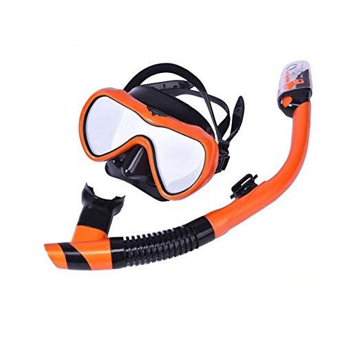 YANKAN Schnorcheln, Schwimmen voll Trockener Schnorchel Anzug Silikon Stroh Tauchen Maske Brille