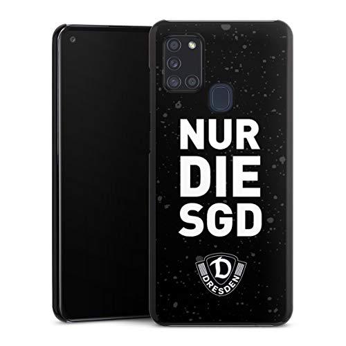 Hard Case kompatibel mit Samsung Galaxy A21s Schutzhülle schwarz Smartphone Backcover Statement SG Dynamo Dresden SGD