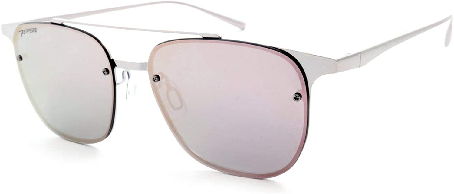 New Peppers Trance Polarized Sunglasses In Brown Poalrized Diamond Pink Mirror