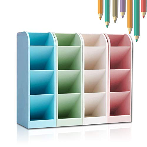 Portapenne Multifunzione, 4 colori 16 vano Scrivania Matita Organizzatore Contenitore per Penne per ufficio Portaoggetti da Scrivania, Organizzatore da Scrivania for Home Office