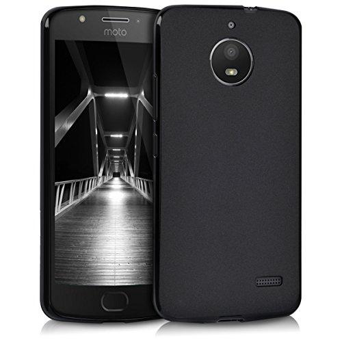 kwmobile Hülle kompatibel mit Motorola Moto E4 - Hülle Silikon - Soft Handyhülle - Handy Hülle in Schwarz matt