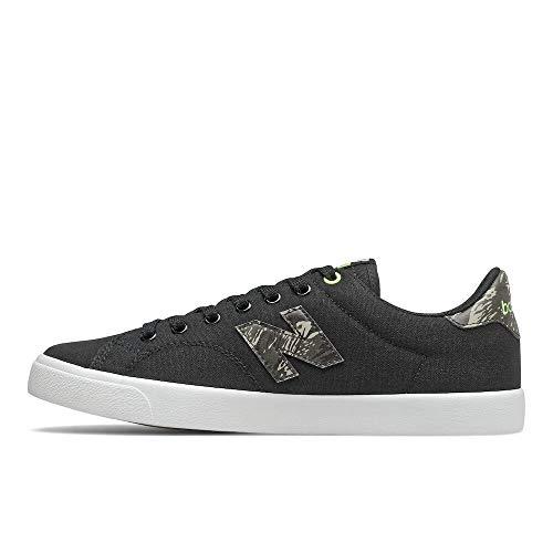 New Balance mens 210 V1 Sneaker, Black/Green, 5.5 US