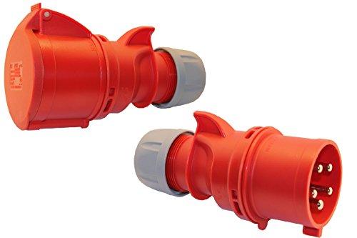 SET CEE Kupplung und Stecker 16A; 5-polig 6h 400 V Starkstrom Kupplung Industriequalittät
