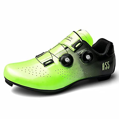 Cacagie Zapatillas de ciclismo para hombre y mujer Spin Ring SPD para ejercicio al aire libre e interior, hombres y mujeres compatibles con tacos Delta Look 36-47, blanco perla (ral 1013), 47 EU