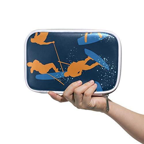 DEZIRO Wakeboarding Multifunctionele Makeup Brush Houder Organizer Bag Cosmetische Tas met Binnenste Mesh Tas voor Reizen