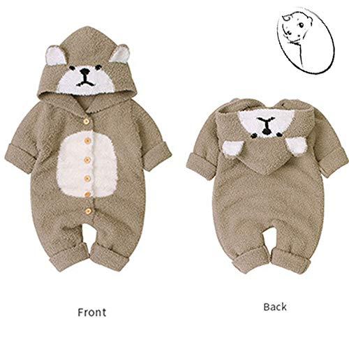LHYAN Baby Body Brown Bear Bodysuit Baby Body Mini-Schlafsack-Leichtbetonhülle für Kinder Reisen Schlaf Kompakt und Warm Compact Handtasche,Length 54 × Bust 27