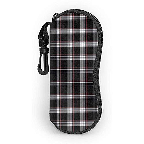 WCHAO Sonnenbrille Golf Gti Plaid Soft Case Ultraleichtes Neopren-Reißverschluss-Brillenetui