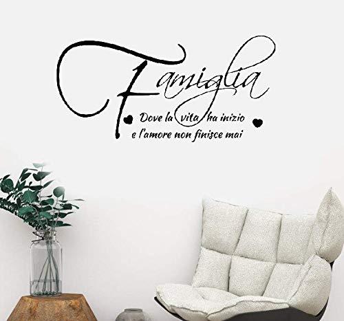 Wandtattoo Kinderzimmer Wandtattoo Schlafzimmer Familienliebeszitate auf Italienisch I Frasi Famiglia Adesivi Da Parete Scritta Famouse Liebeszitate