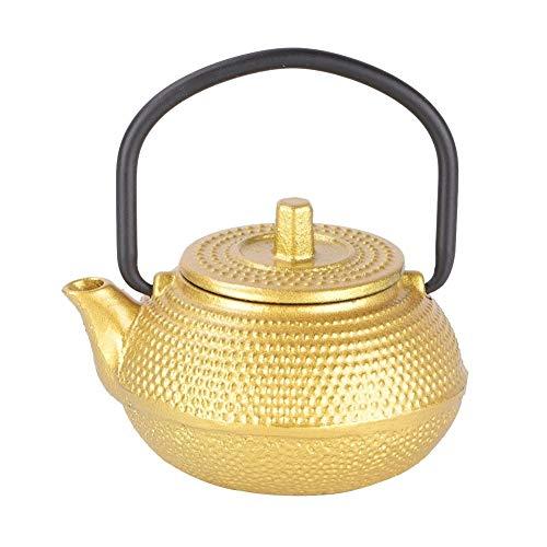 Vobor de Hierro Fundido Tea Pot - 300 ML Mini Hierro Fundido la Parte Inferior Plana del pote del té, la Tetera 0,3 l Teaware con Mango