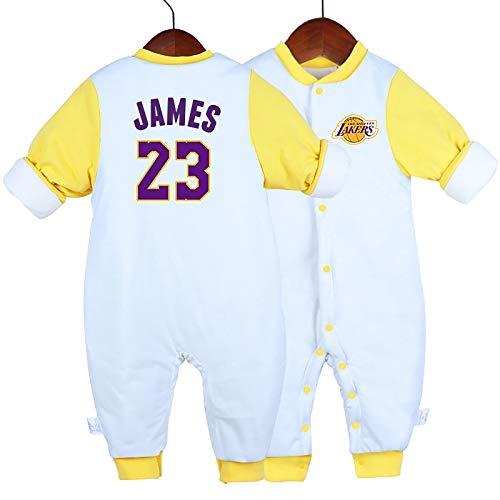 NIUPUPU Camiseta de Baloncesto NBA Timothy Theodore Duncan 21 Luka Doncic 77 Stephen Curry 30 Lebron Raymone James 23 James Harden 13 Baby Rompers Creepers Sports Fan 59-90cm