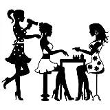 Vinilos Decorativos,Vinilo Pared,Belleza Que Sopla Peluquería Nail Art Pegatinas De Pared Decoración Del Hogar Sala De Estar Dormitorio Peluquería Pegatinas De Pared