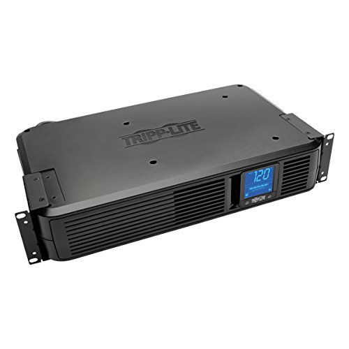 Tripp Lite 1200VA Smart UPS Battery Back Up, 700W Rack-Mount/Tower, 8 Outlets, LCD Display, AVR, USB, DB9 2URM, 3 Year Warranty & $250,000 Insurance (SMART1200LCD)