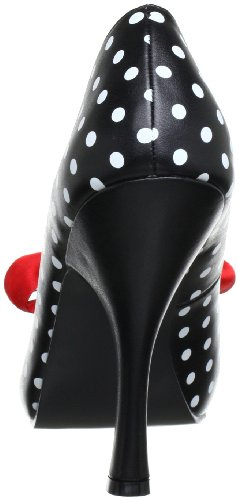 Pin Up Couture CUTIEPIE-06 Damen Pumps, Schwarz (Blk-wht pu (polka dots print)), EU 37 (UK 4) (US 7) - 3