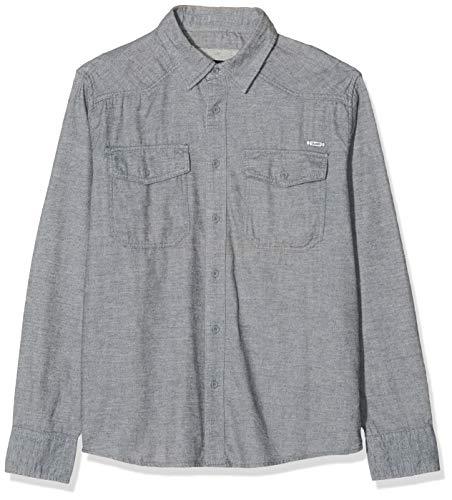 Brandit Herren Shirt in Tweedoptik Freizeithemd, Grau (Grey-Offwhite 156), X-Large