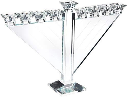 Candelabro de Vidro para 9 Velas No Brand Branco